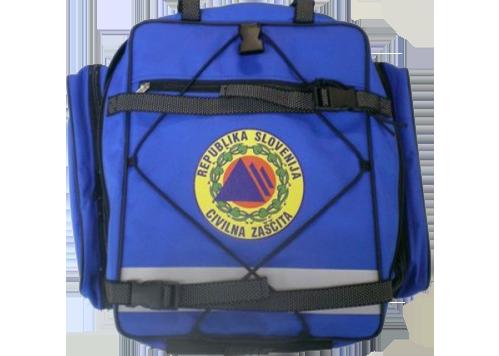 nahrbtnik za civilno zaščito - modri - prazen