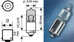 Žarnica 12v h6w bax9s - trifa