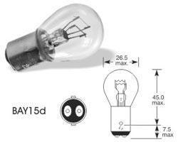 Žarnica 12v p21/5w bay 15d - trifa