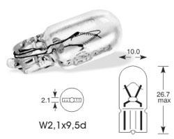 Žarnica 12v w5w w2,1x9,5d - lucas