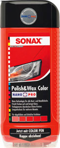 sonax barvna politura+vosek nanopro rdeča 500ml