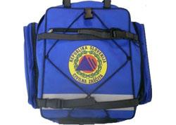 nahrbtnik za civilno zaščito - modri - napolnjen s sanitetno opremo